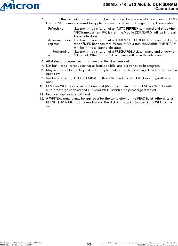 MT46H16M16LFBF-6 AT:H TR ,Micron Technology Inc厂商,IC DDR SDRAM 256MBIT 60VFBGA, MT46H16M16LFBF-6 AT:H TR datasheet预览  第53页