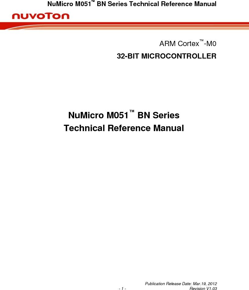 M0516LBN ,Nuvoton Technology Corporation of America厂商,IC MCU 32BIT 64KB FLASH 48LQFP, M0516LBN datasheet预览  第1页