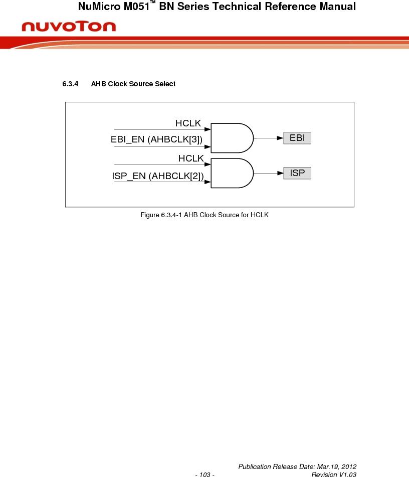 M0516LBN ,Nuvoton Technology Corporation of America厂商,IC MCU 32BIT 64KB FLASH 48LQFP, M0516LBN datasheet预览  第103页