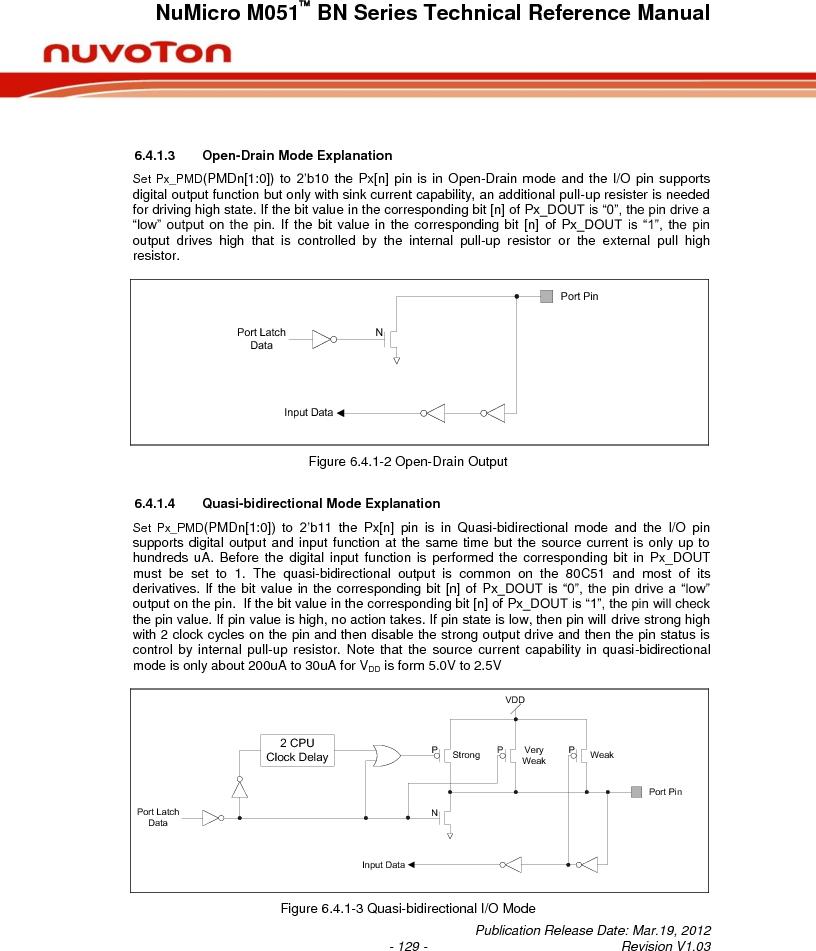 M0516LBN ,Nuvoton Technology Corporation of America厂商,IC MCU 32BIT 64KB FLASH 48LQFP, M0516LBN datasheet预览  第129页