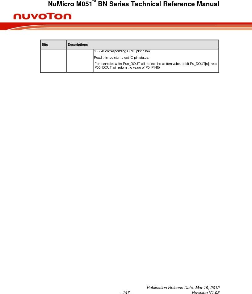 M0516LBN ,Nuvoton Technology Corporation of America厂商,IC MCU 32BIT 64KB FLASH 48LQFP, M0516LBN datasheet预览  第147页