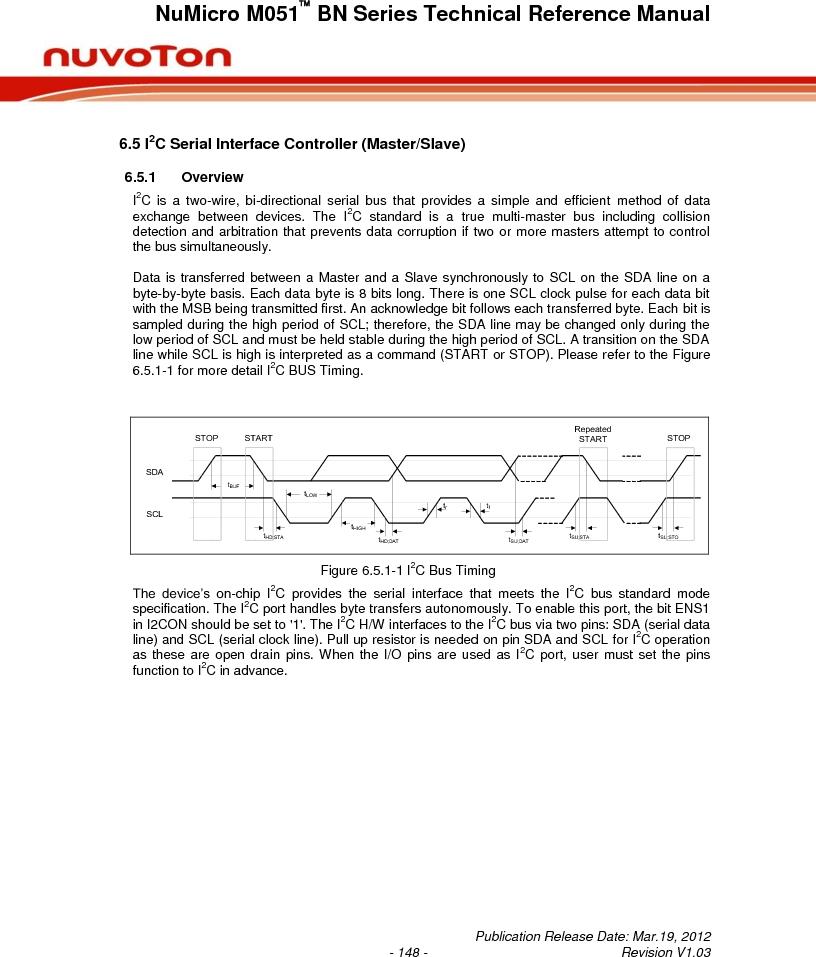 M0516LBN ,Nuvoton Technology Corporation of America厂商,IC MCU 32BIT 64KB FLASH 48LQFP, M0516LBN datasheet预览  第148页