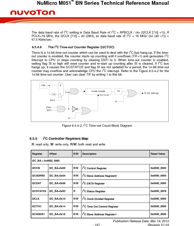 M0516LBN ,Nuvoton Technology Corporation of America厂商,IC MCU 32BIT 64KB FLASH 48LQFP, M0516LBN datasheet预览  第157页
