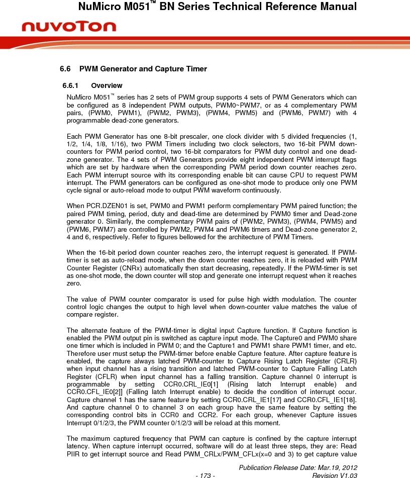 M0516LBN ,Nuvoton Technology Corporation of America厂商,IC MCU 32BIT 64KB FLASH 48LQFP, M0516LBN datasheet预览  第173页