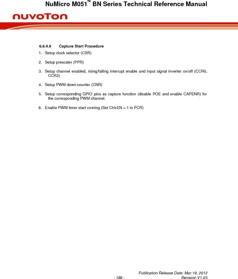 M0516LBN ,Nuvoton Technology Corporation of America厂商,IC MCU 32BIT 64KB FLASH 48LQFP, M0516LBN datasheet预览  第186页