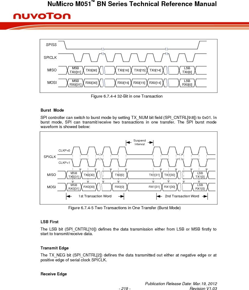 M0516LBN ,Nuvoton Technology Corporation of America厂商,IC MCU 32BIT 64KB FLASH 48LQFP, M0516LBN datasheet预览  第219页
