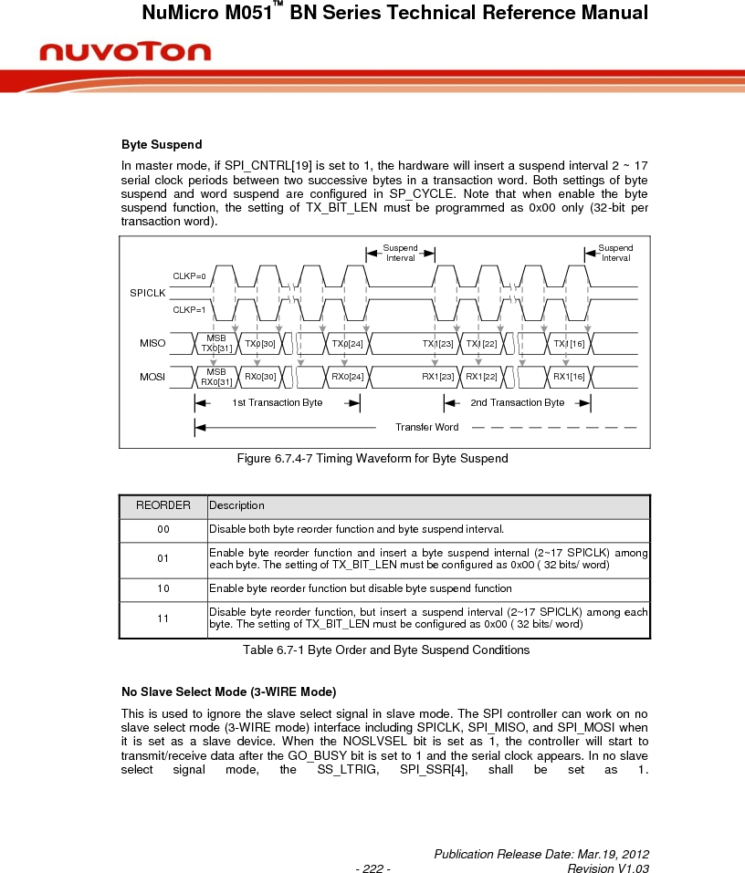 M0516LBN ,Nuvoton Technology Corporation of America厂商,IC MCU 32BIT 64KB FLASH 48LQFP, M0516LBN datasheet预览  第222页