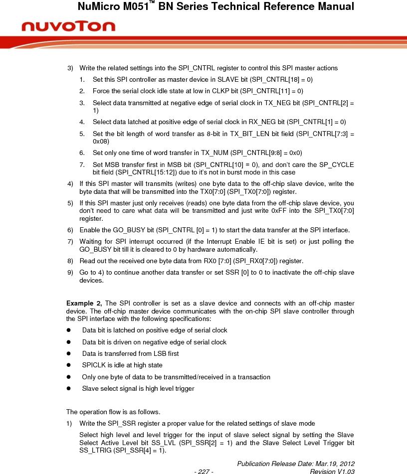 M0516LBN ,Nuvoton Technology Corporation of America厂商,IC MCU 32BIT 64KB FLASH 48LQFP, M0516LBN datasheet预览  第227页