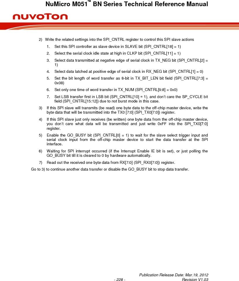 M0516LBN ,Nuvoton Technology Corporation of America厂商,IC MCU 32BIT 64KB FLASH 48LQFP, M0516LBN datasheet预览  第228页