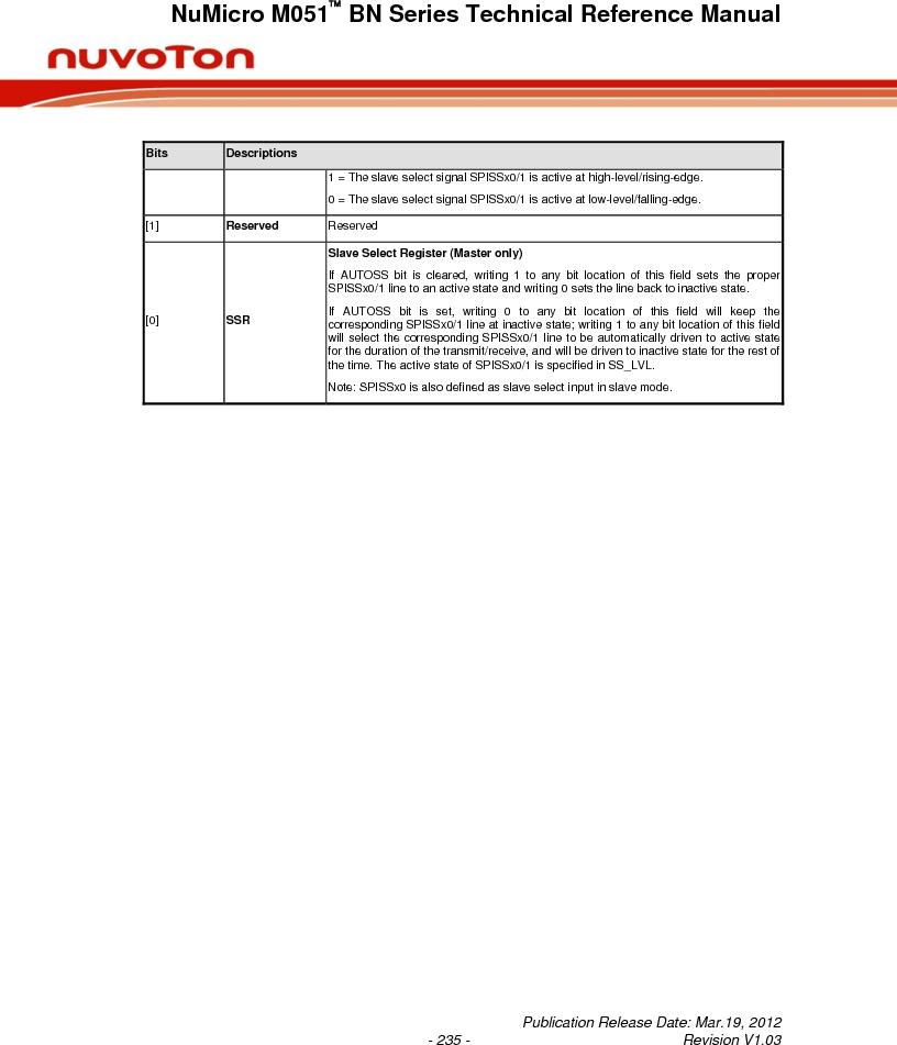 M0516LBN ,Nuvoton Technology Corporation of America厂商,IC MCU 32BIT 64KB FLASH 48LQFP, M0516LBN datasheet预览  第235页