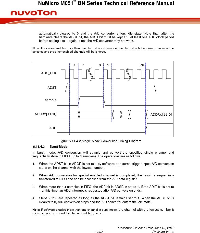 M0516LBN ,Nuvoton Technology Corporation of America厂商,IC MCU 32BIT 64KB FLASH 48LQFP, M0516LBN datasheet预览  第307页