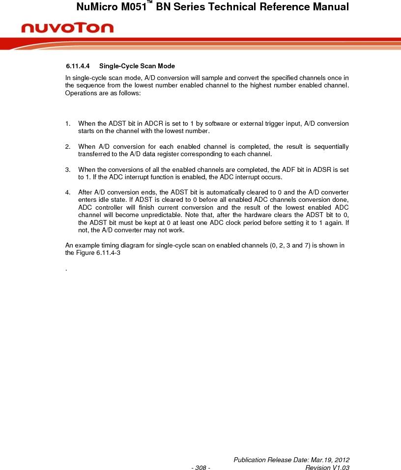 M0516LBN ,Nuvoton Technology Corporation of America厂商,IC MCU 32BIT 64KB FLASH 48LQFP, M0516LBN datasheet预览  第308页