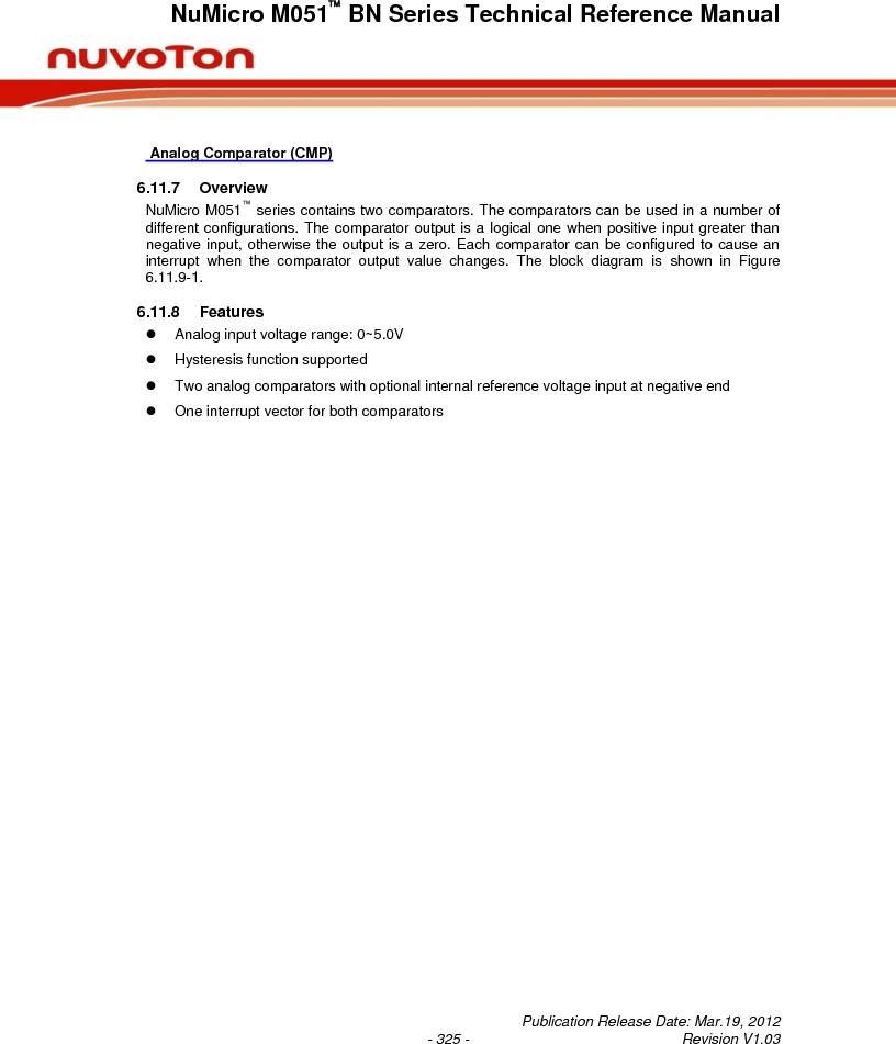 M0516LBN ,Nuvoton Technology Corporation of America厂商,IC MCU 32BIT 64KB FLASH 48LQFP, M0516LBN datasheet预览  第325页