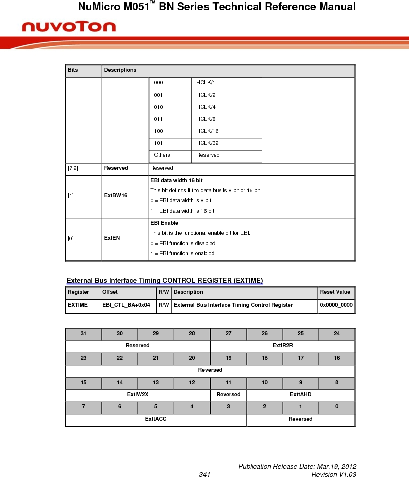 M0516LBN ,Nuvoton Technology Corporation of America厂商,IC MCU 32BIT 64KB FLASH 48LQFP, M0516LBN datasheet预览  第341页