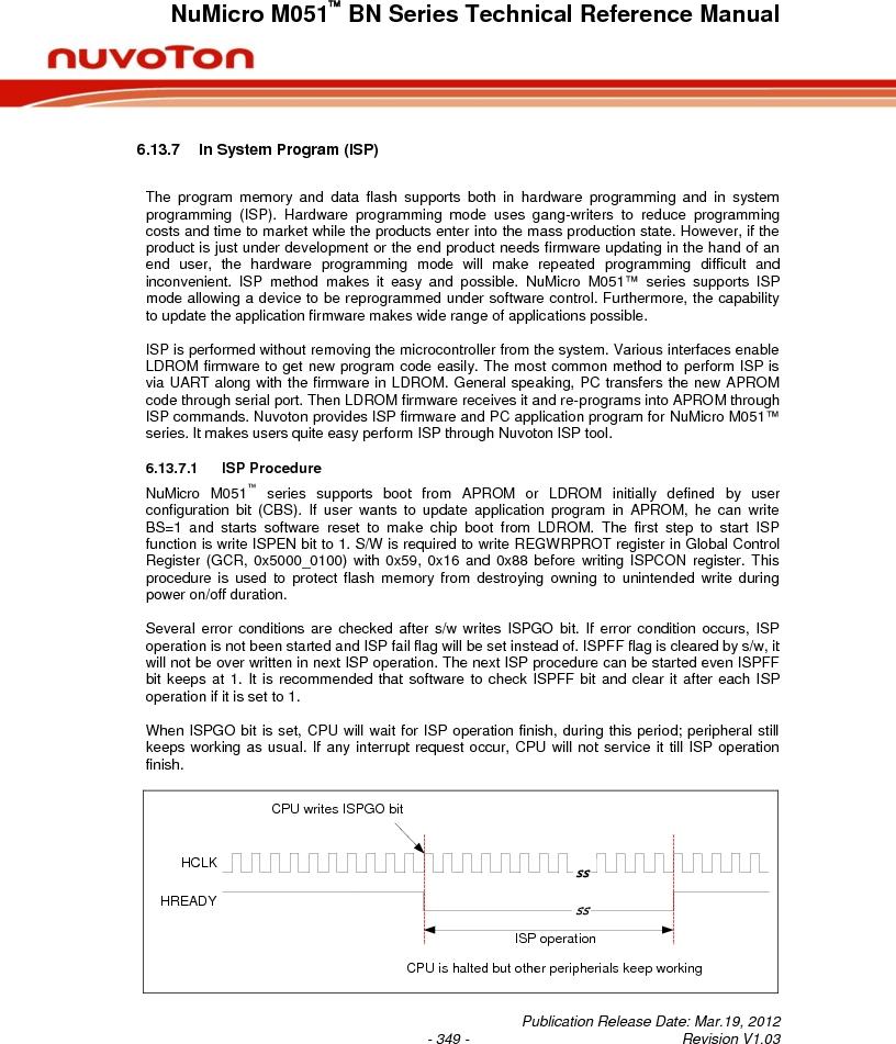 M0516LBN ,Nuvoton Technology Corporation of America厂商,IC MCU 32BIT 64KB FLASH 48LQFP, M0516LBN datasheet预览  第349页