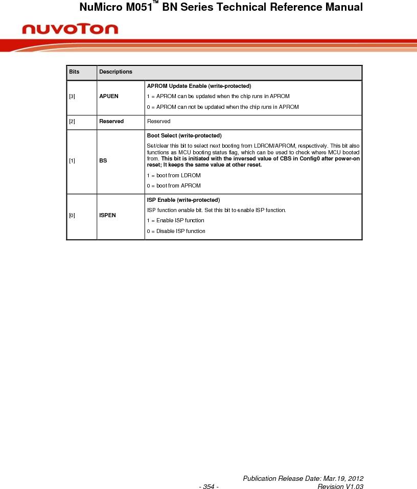 M0516LBN ,Nuvoton Technology Corporation of America厂商,IC MCU 32BIT 64KB FLASH 48LQFP, M0516LBN datasheet预览  第354页