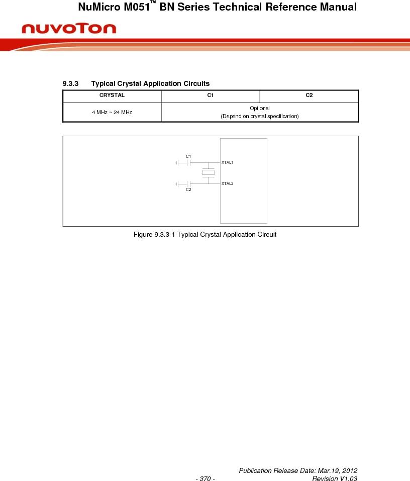 M0516LBN ,Nuvoton Technology Corporation of America厂商,IC MCU 32BIT 64KB FLASH 48LQFP, M0516LBN datasheet预览  第370页