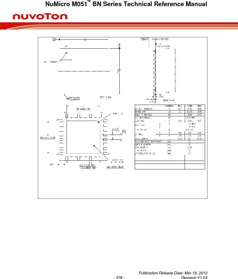 M0516LBN ,Nuvoton Technology Corporation of America厂商,IC MCU 32BIT 64KB FLASH 48LQFP, M0516LBN datasheet预览  第378页
