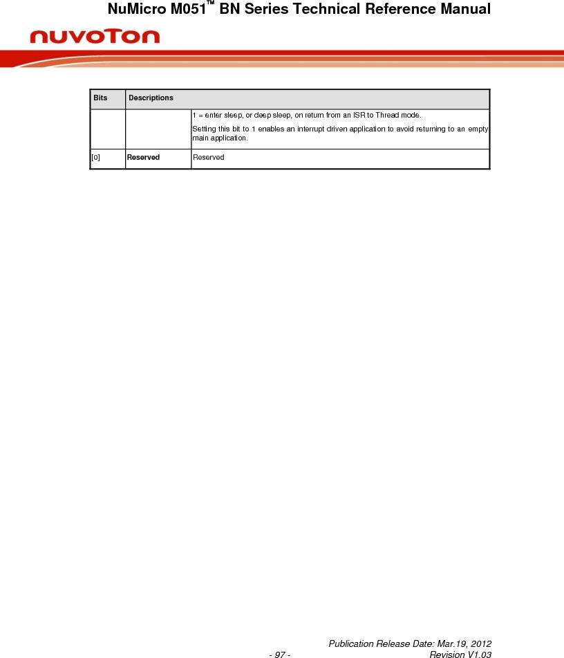 M0516LBN ,Nuvoton Technology Corporation of America厂商,IC MCU 32BIT 64KB FLASH 48LQFP, M0516LBN datasheet预览  第97页