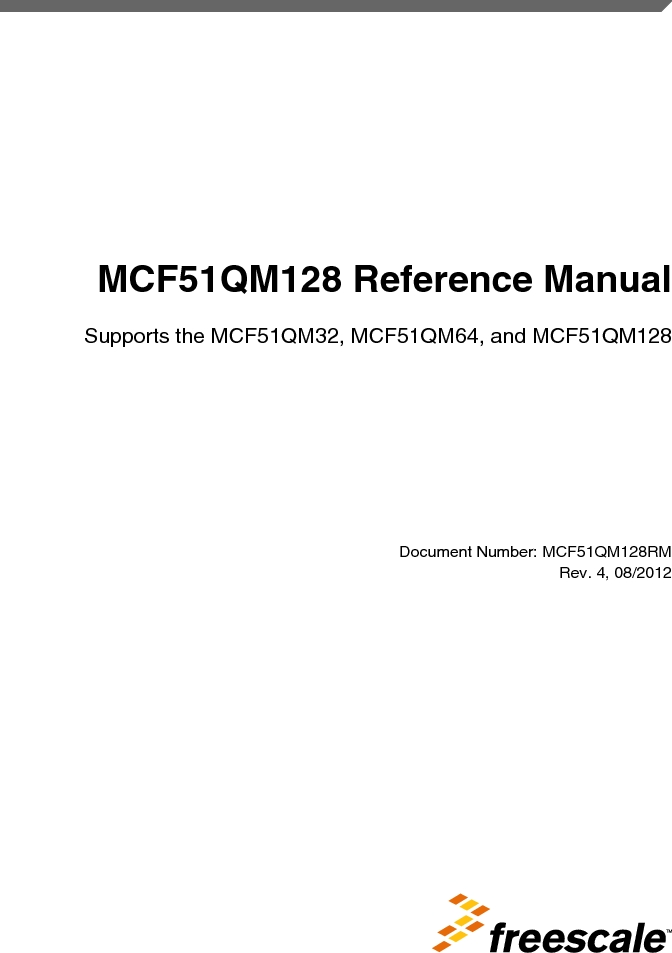 MCF51QM128VLH ,Freescale Semiconductor厂商,IC MCU 32BIT 128KB FLASH 64LQFP, MCF51QM128VLH datasheet预览  第1页