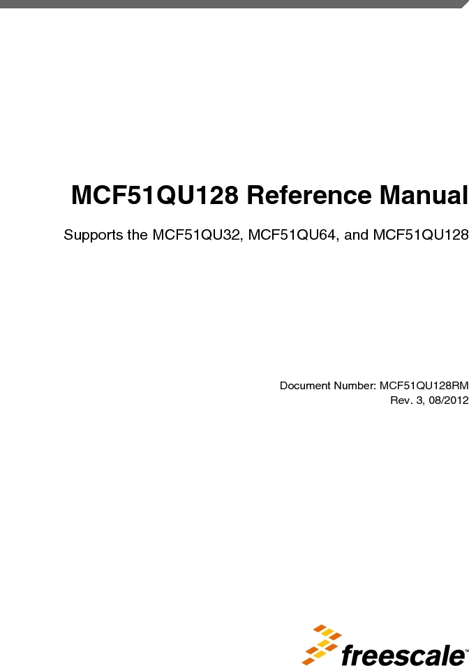 MCF51QU32VHS ,Freescale Semiconductor厂商,IC MCU 32BIT 32K FLASH 44LGA, MCF51QU32VHS datasheet预览  第1页
