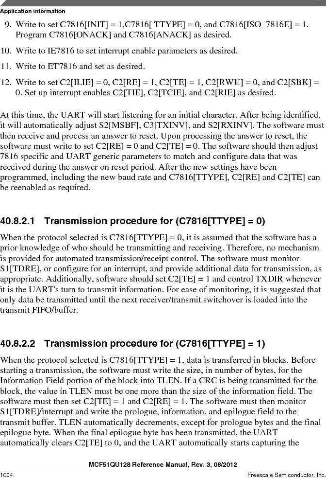 MCF51QU32VHS ,Freescale Semiconductor厂商,IC MCU 32BIT 32K FLASH 44LGA, MCF51QU32VHS datasheet预览  第1004页