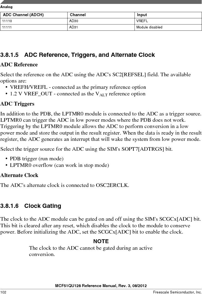 MCF51QU32VHS ,Freescale Semiconductor厂商,IC MCU 32BIT 32K FLASH 44LGA, MCF51QU32VHS datasheet预览  第102页