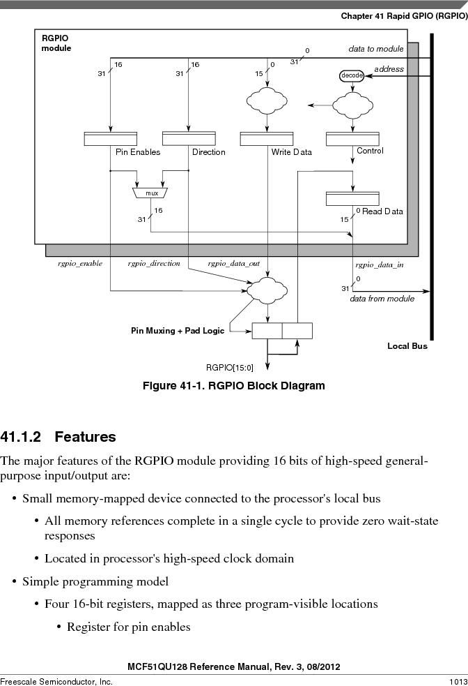 MCF51QU32VHS ,Freescale Semiconductor厂商,IC MCU 32BIT 32K FLASH 44LGA, MCF51QU32VHS datasheet预览  第1013页