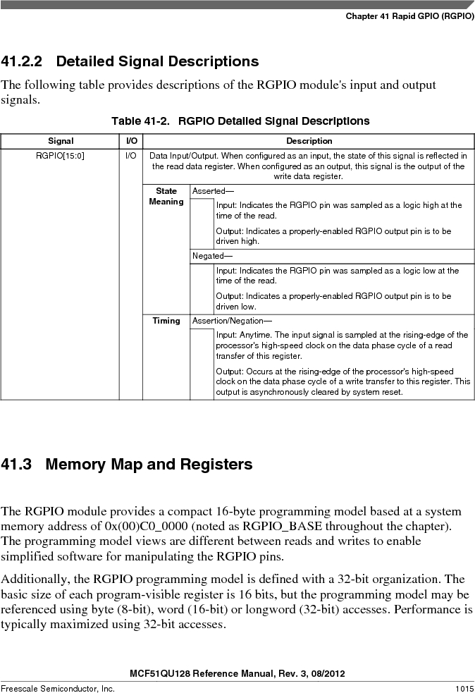 MCF51QU32VHS ,Freescale Semiconductor厂商,IC MCU 32BIT 32K FLASH 44LGA, MCF51QU32VHS datasheet预览  第1015页