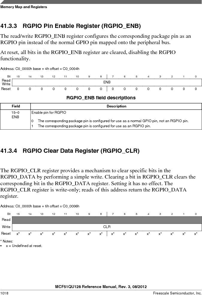 MCF51QU32VHS ,Freescale Semiconductor厂商,IC MCU 32BIT 32K FLASH 44LGA, MCF51QU32VHS datasheet预览  第1018页