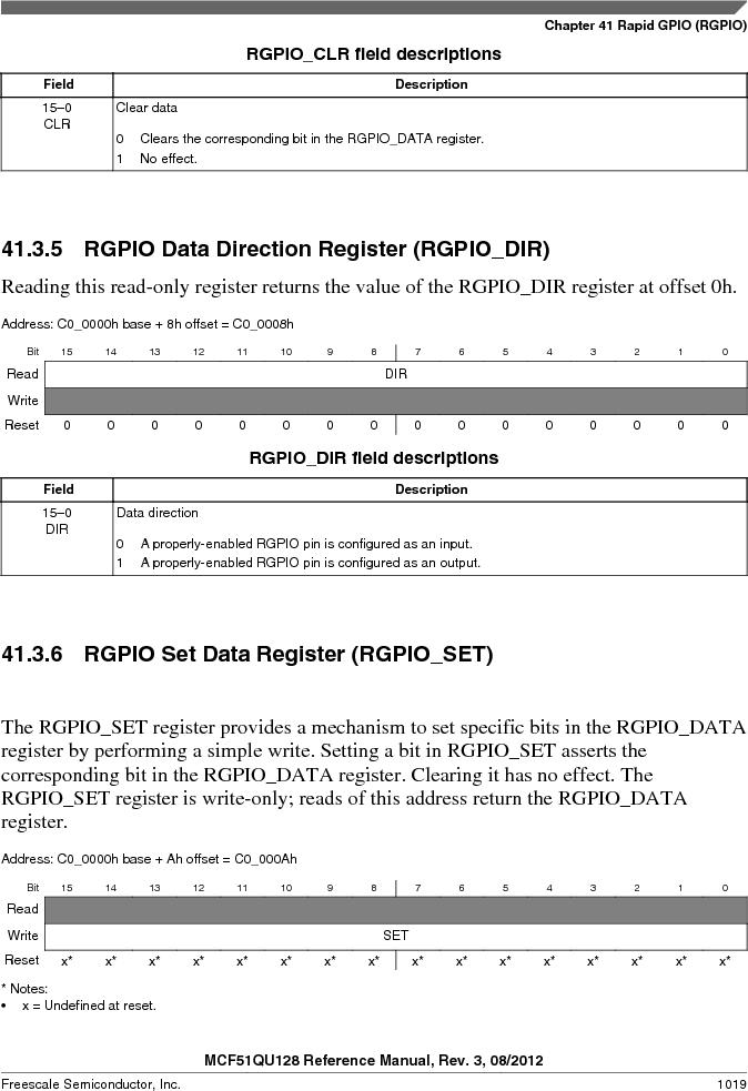 MCF51QU32VHS ,Freescale Semiconductor厂商,IC MCU 32BIT 32K FLASH 44LGA, MCF51QU32VHS datasheet预览  第1019页