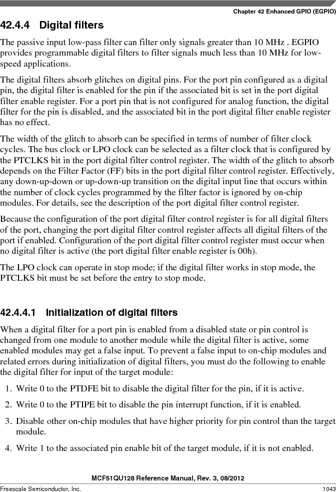 MCF51QU32VHS ,Freescale Semiconductor厂商,IC MCU 32BIT 32K FLASH 44LGA, MCF51QU32VHS datasheet预览  第1043页