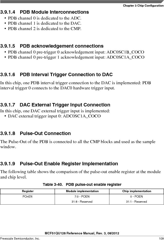 MCF51QU32VHS ,Freescale Semiconductor厂商,IC MCU 32BIT 32K FLASH 44LGA, MCF51QU32VHS datasheet预览  第109页