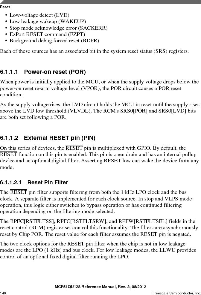 MCF51QU32VHS ,Freescale Semiconductor厂商,IC MCU 32BIT 32K FLASH 44LGA, MCF51QU32VHS datasheet预览  第140页