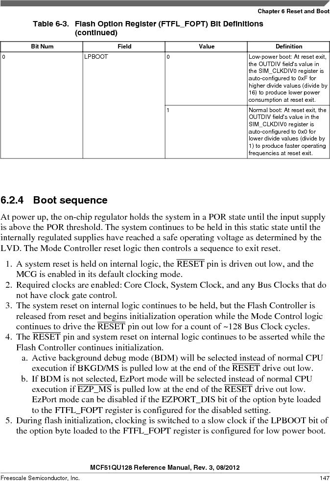 MCF51QU32VHS ,Freescale Semiconductor厂商,IC MCU 32BIT 32K FLASH 44LGA, MCF51QU32VHS datasheet预览  第147页