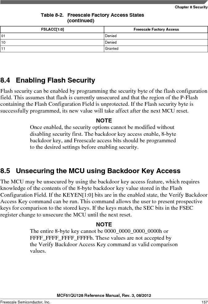 MCF51QU32VHS ,Freescale Semiconductor厂商,IC MCU 32BIT 32K FLASH 44LGA, MCF51QU32VHS datasheet预览  第157页