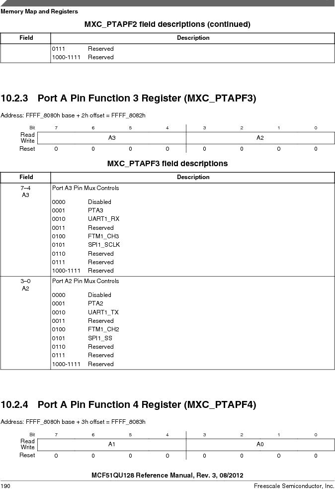 MCF51QU32VHS ,Freescale Semiconductor厂商,IC MCU 32BIT 32K FLASH 44LGA, MCF51QU32VHS datasheet预览  第190页