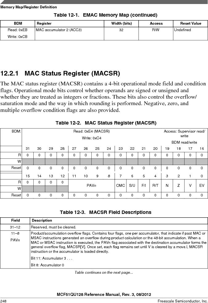 MCF51QU32VHS ,Freescale Semiconductor厂商,IC MCU 32BIT 32K FLASH 44LGA, MCF51QU32VHS datasheet预览  第248页