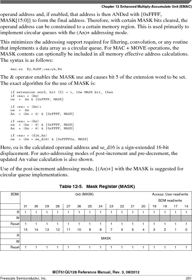 MCF51QU32VHS ,Freescale Semiconductor厂商,IC MCU 32BIT 32K FLASH 44LGA, MCF51QU32VHS datasheet预览  第251页