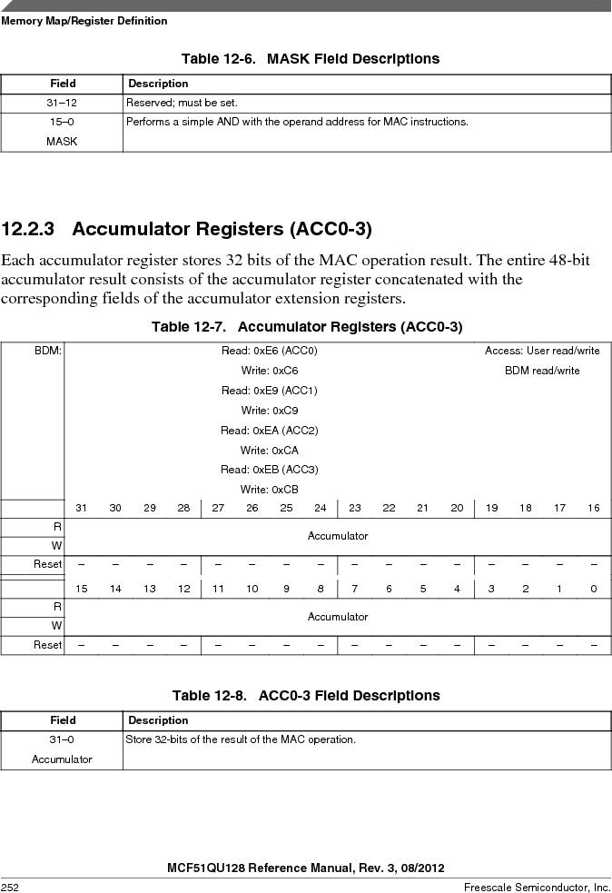 MCF51QU32VHS ,Freescale Semiconductor厂商,IC MCU 32BIT 32K FLASH 44LGA, MCF51QU32VHS datasheet预览  第252页