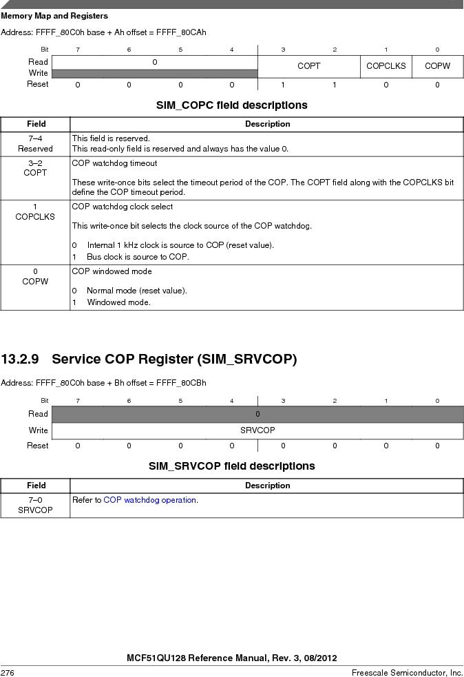MCF51QU32VHS ,Freescale Semiconductor厂商,IC MCU 32BIT 32K FLASH 44LGA, MCF51QU32VHS datasheet预览  第276页