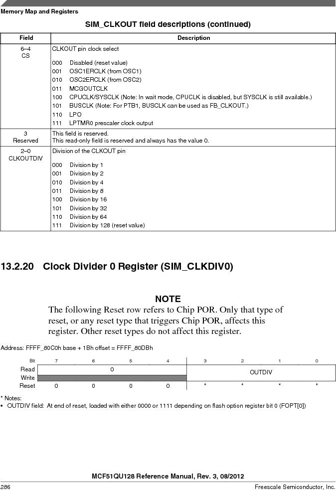 MCF51QU32VHS ,Freescale Semiconductor厂商,IC MCU 32BIT 32K FLASH 44LGA, MCF51QU32VHS datasheet预览  第286页