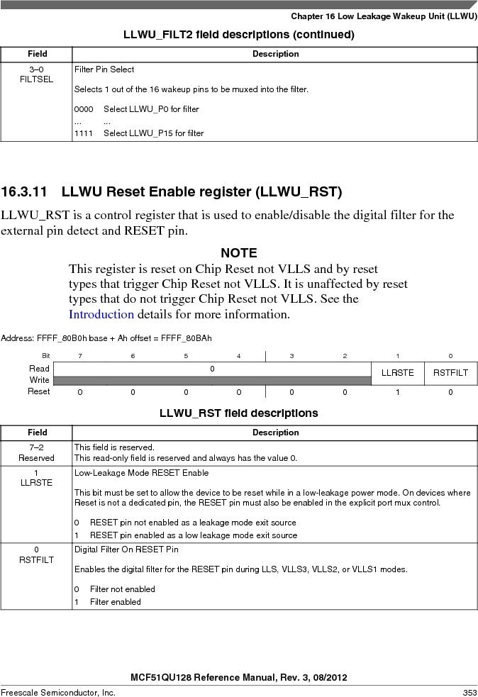 MCF51QU32VHS ,Freescale Semiconductor厂商,IC MCU 32BIT 32K FLASH 44LGA, MCF51QU32VHS datasheet预览  第353页