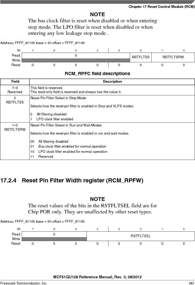 MCF51QU32VHS ,Freescale Semiconductor厂商,IC MCU 32BIT 32K FLASH 44LGA, MCF51QU32VHS datasheet预览  第361页
