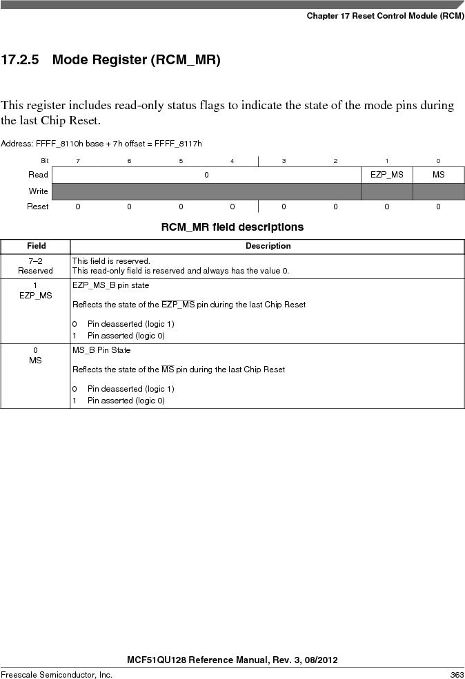 MCF51QU32VHS ,Freescale Semiconductor厂商,IC MCU 32BIT 32K FLASH 44LGA, MCF51QU32VHS datasheet预览  第363页