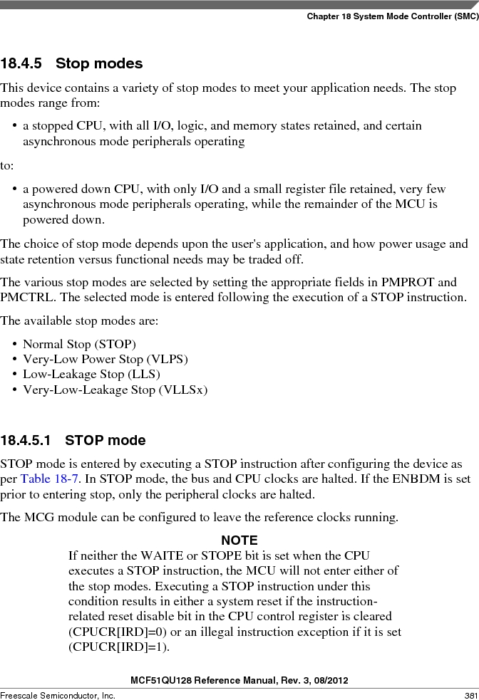 MCF51QU32VHS ,Freescale Semiconductor厂商,IC MCU 32BIT 32K FLASH 44LGA, MCF51QU32VHS datasheet预览  第381页