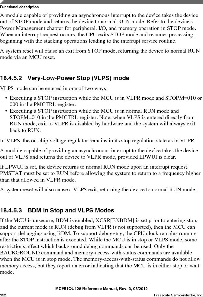 MCF51QU32VHS ,Freescale Semiconductor厂商,IC MCU 32BIT 32K FLASH 44LGA, MCF51QU32VHS datasheet预览  第382页