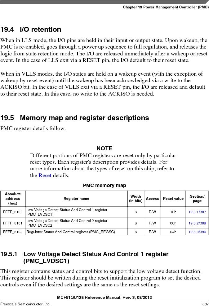 MCF51QU32VHS ,Freescale Semiconductor厂商,IC MCU 32BIT 32K FLASH 44LGA, MCF51QU32VHS datasheet预览  第387页