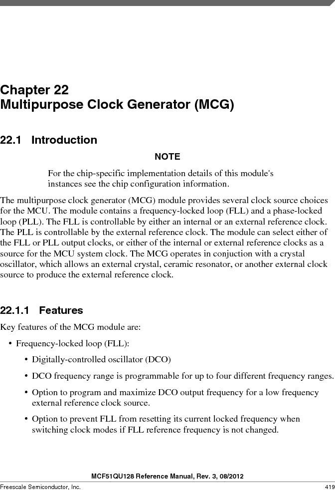MCF51QU32VHS ,Freescale Semiconductor厂商,IC MCU 32BIT 32K FLASH 44LGA, MCF51QU32VHS datasheet预览  第419页