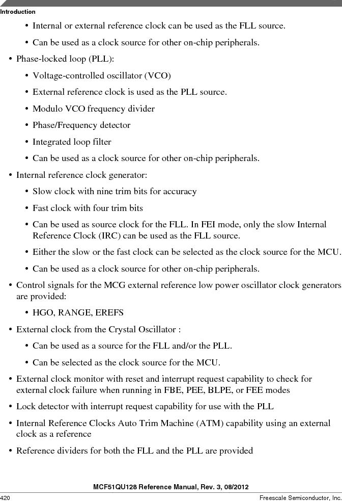 MCF51QU32VHS ,Freescale Semiconductor厂商,IC MCU 32BIT 32K FLASH 44LGA, MCF51QU32VHS datasheet预览  第420页